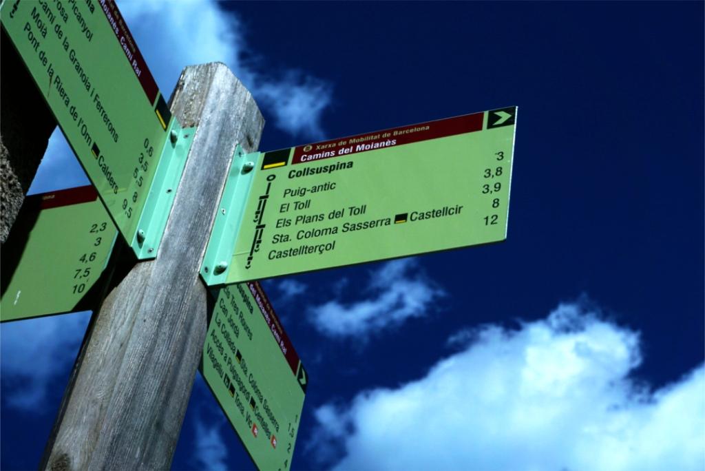 Pals indicadors inici ruta